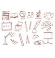 education related doodle icons vector image vector image
