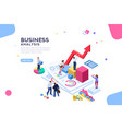 financial flat isometric banner vector image vector image