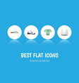 flat icon clothes set of beach sandal brasserie vector image vector image