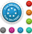 Free delivery award vector image vector image