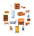 furniture and household appliances icons set vector image vector image