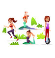 girl woman leisure in park vector image vector image