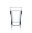 Glass of water isolated on white vector image