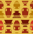greek vases meander ornament seamless pattern vector image vector image