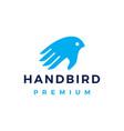 hand bird logo icon vector image