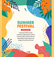 hello summer festival and fair banner design with vector image vector image
