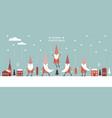 horizontal banner christmas card seasons greetin vector image vector image