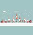 horizontal banner christmas card seasons greeting vector image vector image