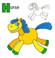Horse Coloring book page vector image