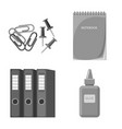isolated object of office and supply symbol vector image vector image