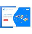 job design concept vector image vector image