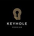 key hole logo icon vector image