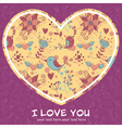 Lovely colorful invitation postcard with big heart vector image vector image
