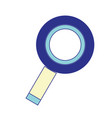 magnifying glass to exploration and search of vector image vector image