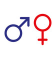 male and female symbol set logo vector image vector image