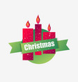 merry christmas christmas candles greeting card vector image vector image