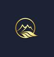 mountain landscape nature gold logo vector image
