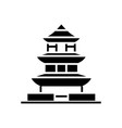 pagoda - japan icon black vector image