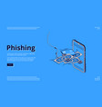 phishing landing page scammer theft personal data vector image