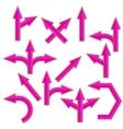 Pink Arrows vector image vector image