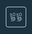 plane seats icon line symbol premium quality vector image vector image