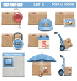 Postal Icons Set 5 vector image vector image