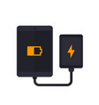 power bank charging tablet portable charger vector image vector image
