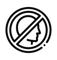 prohibition personality icon outline vector image vector image
