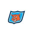 Red Fox Head Shield Cartoon vector image vector image