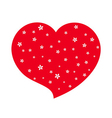 red heart flower blossom icon white vector image