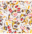 repair tools icons in seamless pattern vector image vector image
