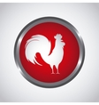 Rooster icon of chinese calendar