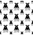 seamless pattern with abstract dog as symbol 2018 vector image vector image