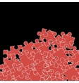 Set of Red Puzzle Jigsaw Pattern vector image vector image