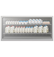 Shelves full of bottles and cups vector image