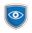 shield insurance with human eye isolated icon vector image