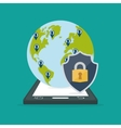 smartphone contacts globe padlock internet vector image