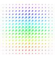 space ship shape halftone spectrum pattern vector image