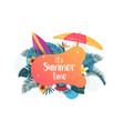 summer background 2019 vector image vector image