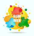 summer organic gradients label vector image