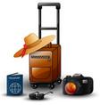 summer travel set vector image