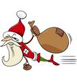 superhero santa cartoon vector image