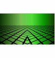 three dimensional green background vector image