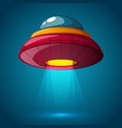 unidentified flying object - cartoon vector image
