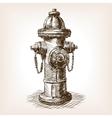 Vintage fire hydrant sketch vector image vector image