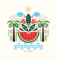 watermelon stylized ilustration vector image vector image
