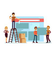 website construction and webdesign ui building vector image vector image