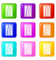 white rectangle window set 9 vector image vector image