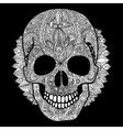 white skull day of the dead vector image