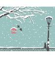 winter scene at park vector image